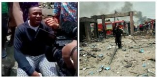 God, why have you abandoned us? Lagos explosion victim says.
